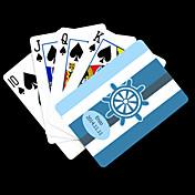 포커 게임 카드 개인화 된 선물 파란 앵커 스트라이프 패턴