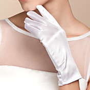 satén muñeca longitud guante guantes de novia estilo femenino clásico