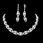 Joyas Collares / Pendientes Los sistemas nupciales de la joyería Chapado en Plata La imitación de diamante / CristalPedida / Boda /