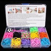 Fargerike gummistrikker / Smykkeskrin / Spenner og kroker Harpiks / Gummi DIY Smykker 17.0*10.0*2.2 cm 0.116 kg