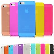 Para Funda iPhone 5 Ultrafina / Congelada / Traslúcido Funda Cubierta Trasera Funda Un Color Suave Policarbonato iPhone SE/5s/5
