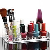 acrílico cosméticos transparentes olla pincel de maquillaje soporte de almacenamiento cuadrado organizador cosmética