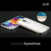 Grabado personalizado delgado de metal de parachoques del capítulo Shell para Samsung Galaxy i9600 S5 con el botón del metal