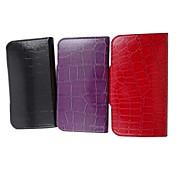 제품 삼성 갤럭시 케이스 케이스 커버 스탠드 플립 엠보싱 텍스쳐 풀 바디 케이스 기하학 패턴 인조 가죽 용 Samsung S3