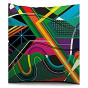1 PC Algodón/Lino Cobertor de Cojín, Geométrico Moderno/Contemporáneo