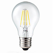 E26/E27 LED-glødepærer G60 4 leds COB Mulighet for demping Dekorativ Varm hvit 400lm 3200K AC 220-240V