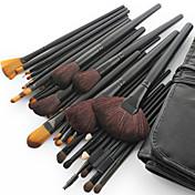 Nuevos Pinceles de Maquillaje Profesionales de Pelo de Cabra con Mango Negro y Funda Gratis (32 Piezas)