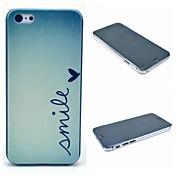 Etui Til iPhone 6 iPhone 6 Plus Mønster Bakdeksel Ord / setning Hard PC til iPhone 6s Plus iPhone 6 Plus iPhone 6s iPhone 6