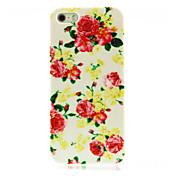 Patrón de la flor de Rose del estuche rígido para el iPhone 4/4S