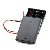 블랙 3PCS AA 셀 배터리 (4.5V) 클립 홀더 상자 케이스