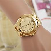 Mujer Reloj de Vestir Reloj de Moda Cuarzo Aleación Banda Plata Dorado
