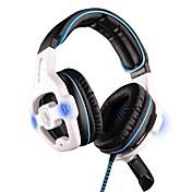 SADES SA-903 Over øre Pannebånd Med ledning Hodetelefoner Plast Gaming øretelefon Med volumkontroll Med mikrofon Støyisolerende Headset