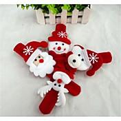 Julegaver Juleleker Slaparmbånd Leketøy Snømann Nuttet julenissen tekstil Barne 1 Deler