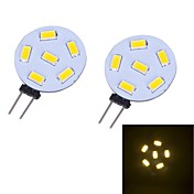 G4 Luces LED de Doble Pin 12 leds SMD 5730 230lm Blanco Cálido 3000~3500 DC 12