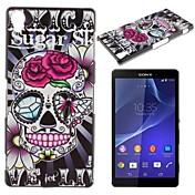 Skull Flower Pattern PC Hard Case for Sony Z2 L50w