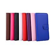 Etui Til Apple iPhone X iPhone 8 iPhone 6 iPhone 6 Plus Kortholder Lommebok med stativ Flipp Heldekkende etui Helfarge Hard PU Leather til