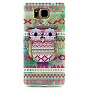 diseño del búho patrón TPU cubierta del caso para Samsung G850 tribal galaxia alfa