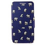 Kinston Indian Elephants Pattern PU Leather Full Body Cover with Stand for iPhone 6 Plus