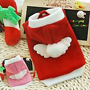 Perros Saco y Capucha Rojo / Rosado Ropa para Perro Invierno Cosplay / Navidad / Año Nuevo