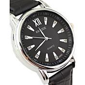 Hombre Reloj de Vestir Cuarzo Aleación Banda Negro Blanco Negro