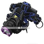 Linternas de Cabeza Faro Delantero LED 1800 lm 3 Modo LED con pilas y cargadores Recargable Impermeable Camping/Senderismo/Cuevas De Uso