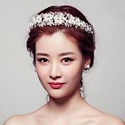 Mujer Diamantes Sintéticos Cristal Aleación Perla Artificial Celada-Boda Ocasión especial Al Aire Libre Coronas
