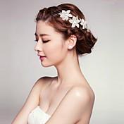 Mujer Diamantes Sintéticos Aleación Acrílico Celada-Boda Ocasión especial Al Aire Libre Flores
