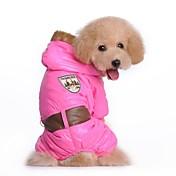Perro Abrigos Ropa para Perro Letra y Número Azul Rosa Algodón Disfraz Para mascotas Cosplay