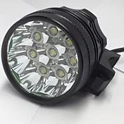 3 Hodelykter Sykkellykter LED 8000LM Lumens 3 Modus Cree XM-L U2 6 x 18650 Batterier Oppladbar Vanntett Nattsyn til