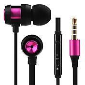 JTX JL-701 I øret Med ledning Hodetelefoner Plast Mobiltelefon øretelefon Med volumkontroll Med mikrofon Støyisolerende Headset
