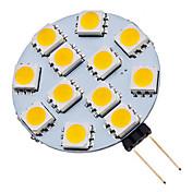 70 lm G4 Focos LED 12 leds SMD 5050 Blanco Cálido Blanco Fresco AC 12V