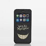desnudado patrón dientes textil caso de cuerpo completo con soporte y tarjeta de la ranura para el iphone 6