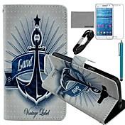 용 카드 홀더 / 지갑 / 스탠드 / 플립 / 패턴 케이스 풀 바디 케이스 돛대 하드 인조 가죽 Samsung Grand Prime