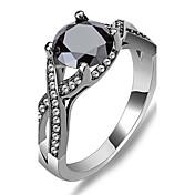 Dame Syntetisk safir Statement Ring - Zirkonium 6 / 7 / 8 Svart Til Bryllup / Fest / Daglig / Diamant
