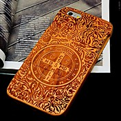 Funda Para Apple iPhone 6 iPhone 6 Plus Diseños En Relieve Funda Trasera Palabra / Frase Dura De madera para iPhone 6s Plus iPhone 6s
