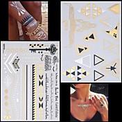 Tatuajes Adhesivos - Non Toxic/Hawaiian/Parte Lumbar/Waterproof - Series de Joya/Series de Animal - Mujer/Hombre/Adulto/Juventud - Multicolor - Papel