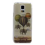 제품 삼성 갤럭시 케이스 케이스 커버 패턴 뒷면 커버 케이스 코끼리 PC 용 Samsung S5