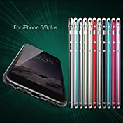 Para Funda iPhone 6 / Funda iPhone 6 Plus Ultrafina Funda Acolchada Funda Un Color Dura Aluminio iPhone 6s Plus/6 Plus / iPhone 6s/6