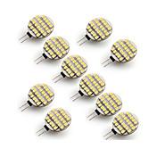 10pcs 3W 300-400 lm G4 LED-lamper med G-sokkel 24 leds SMD 3528 Varm hvit Kjølig hvit AC 12V