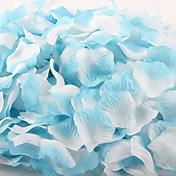 100 PC 그라디언트 색상 인공 장미 꽃잎 장식 파티 결혼식