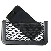 coche bolsillos organizadores netos almacenamiento de 14.5x8cm neto bolso caja automotriz adhesivo bolso del coche visera de herramientas