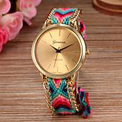 Mujer Reloj de Moda Cuarzo cuerda trenzada Tejido Banda Bohemio Múltiples Colores