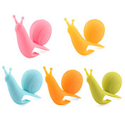 attraktiv& søte sneglen form silikon tepose holder (flerfarget) (5pcs / pakke)