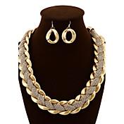 Mujer Conjunto de joyas - Lujo, Vintage, Fiesta Incluir Pendientes colgantes / Collares Declaración Dorado Para Fiesta / Ocasión especial / Aniversario