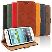 Funda Para Samsung Galaxy Funda Samsung Galaxy Soporte de Coche Cartera con Soporte Flip Funda de Cuerpo Entero Color sólido Cuero de PU