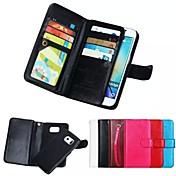 Etui Til Samsung Galaxy Samsung Galaxy Etui Kortholder Lommebok Magnetisk Heldekkende etui Helfarge Myk ekte lær til S8 Plus S8 S7 edge