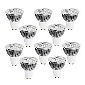 10pcs 4W 400-450 lm GU10 Focos LED 4 leds LED de Alta Potencia Regulable Blanco Cálido Blanco Fresco Blanco 220-240