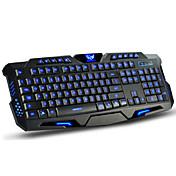 Med ledning Multi farge baklys 114 Gaming Keyboard bakgrunnsbelyst Programmerbar