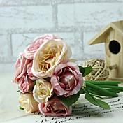 1 Gren Silke Plastikk Peoner Bordblomst Kunstige blomster