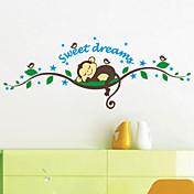Animales Caricatura 3D Pegatinas de pared Calcomanías de Aviones para Pared Calcomanías Decorativas de Pared,Vinilo MaterialDecoración